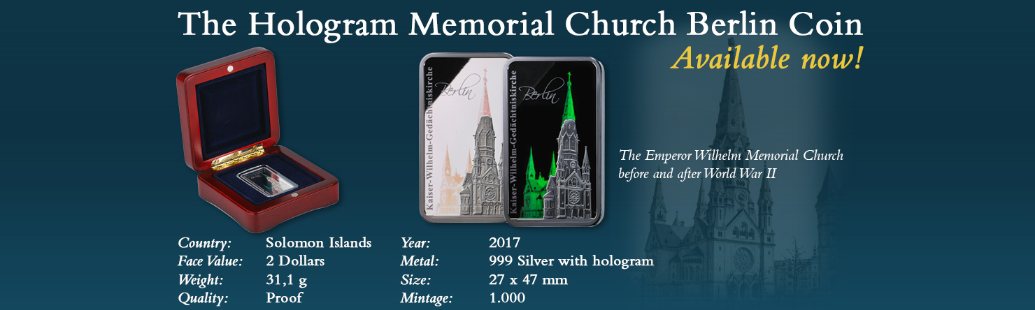 Emperor Wilhelm Memorial Church Berlin - Modern Numismatics International