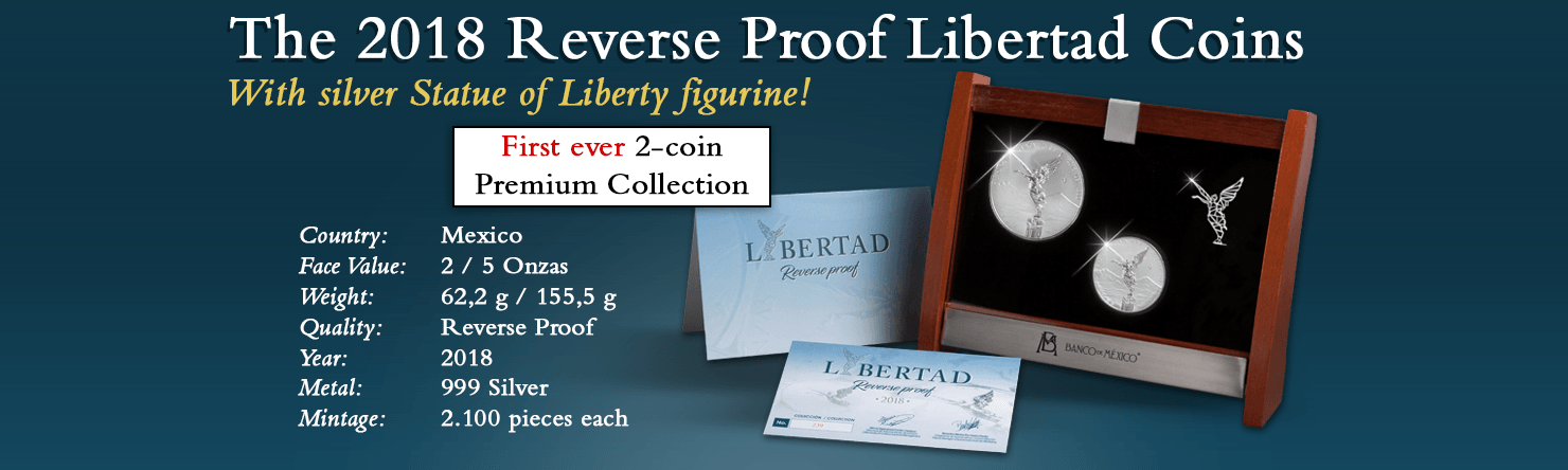 Mexico - The 2018 Reverse Proof Libertad Coin Set