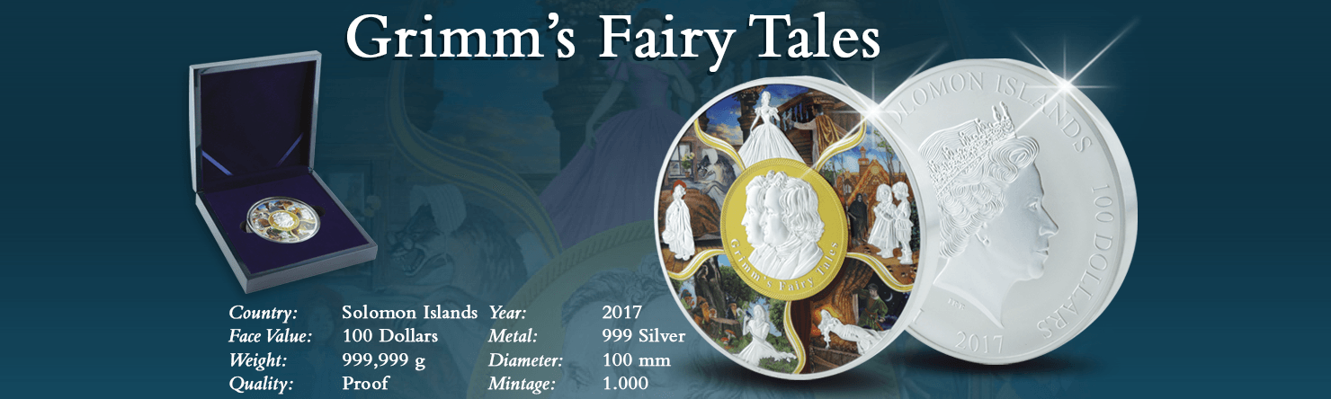 Grimm's Fairy Tales 999 Silver 100 Dollar Coin