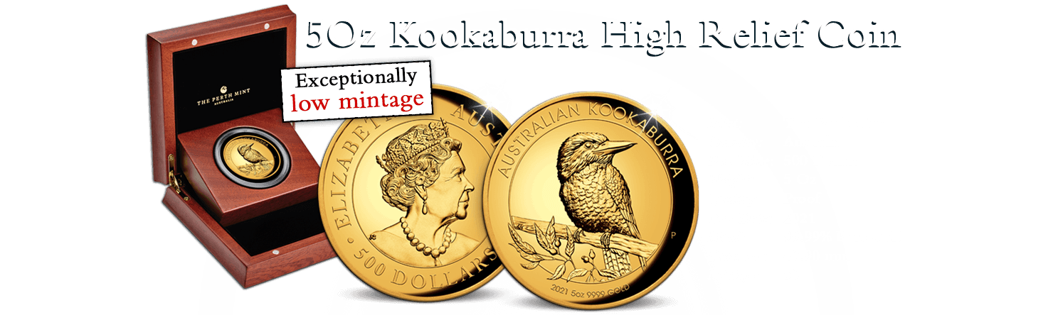 5Oz Kookaburra Gold Proof High Relief Coin